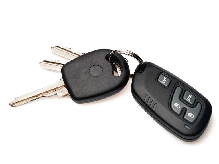 Car keys to represent buying a car