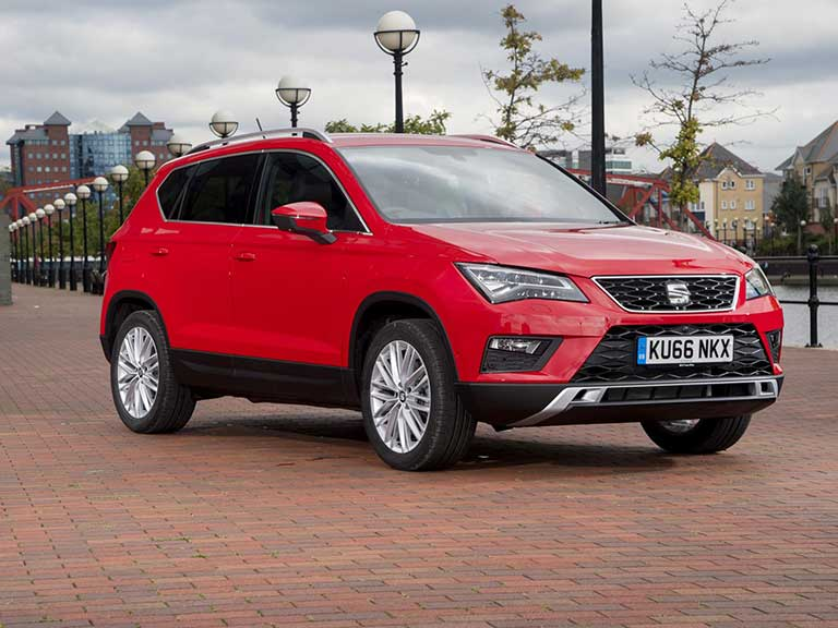 The SEAT Ateca front view