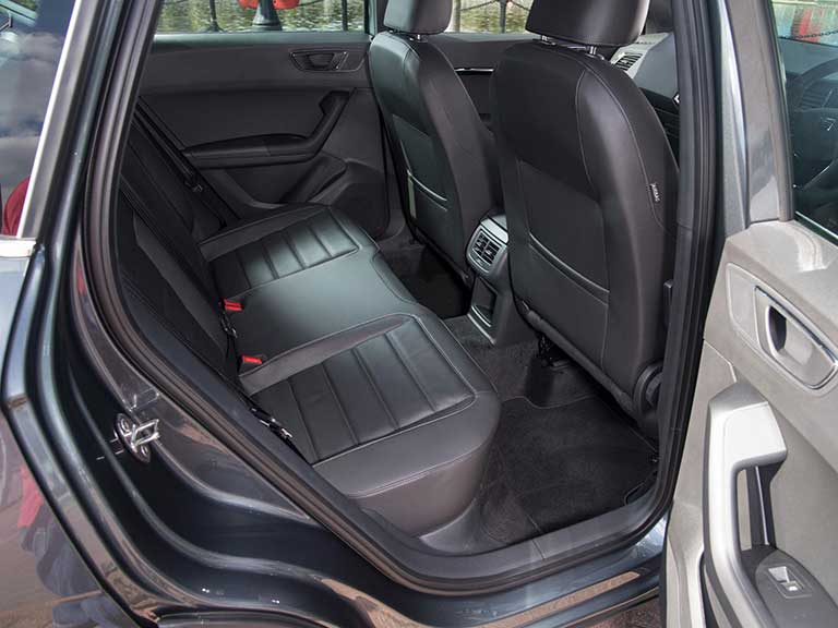 The SEAT Ateca rear seats