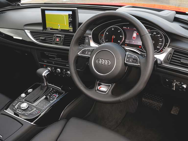 The front interior of an Audi A6 Allroad