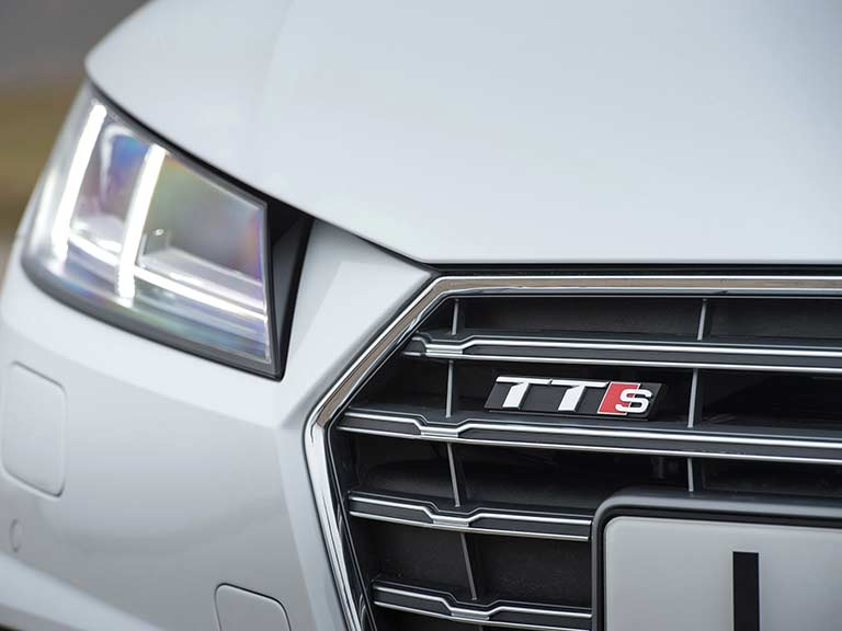 Audi TTS exterior with badge
