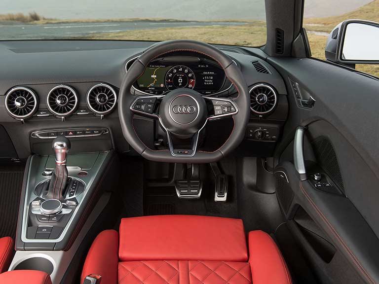 The Audi TTS' dashboard