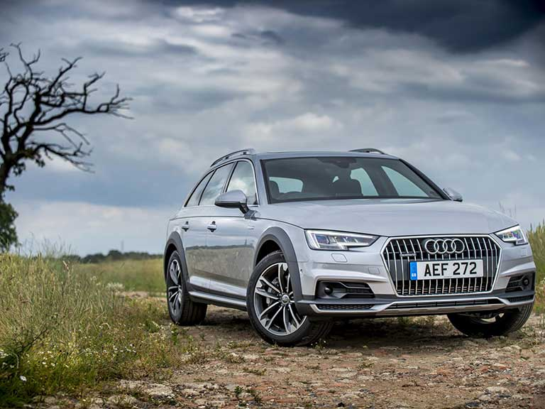 The Audi A4 allroad front side