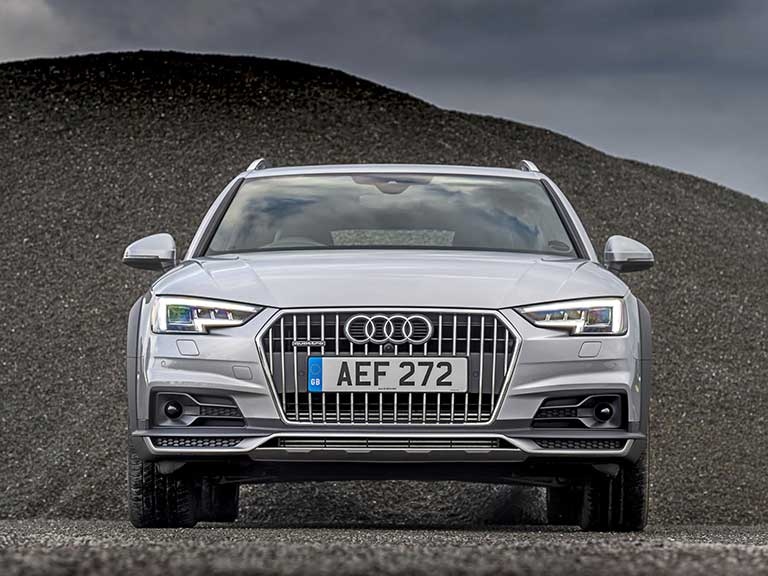 The Audi A4 allroad front