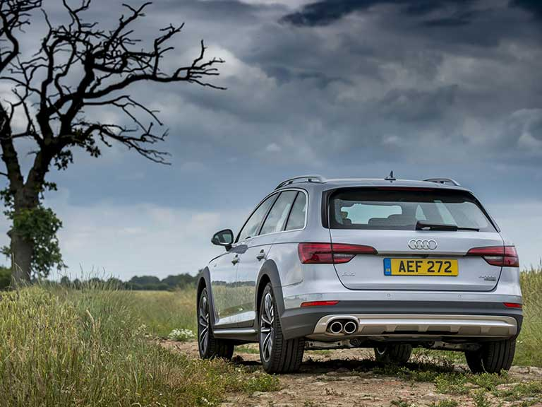 The Audi A4 allroad rear