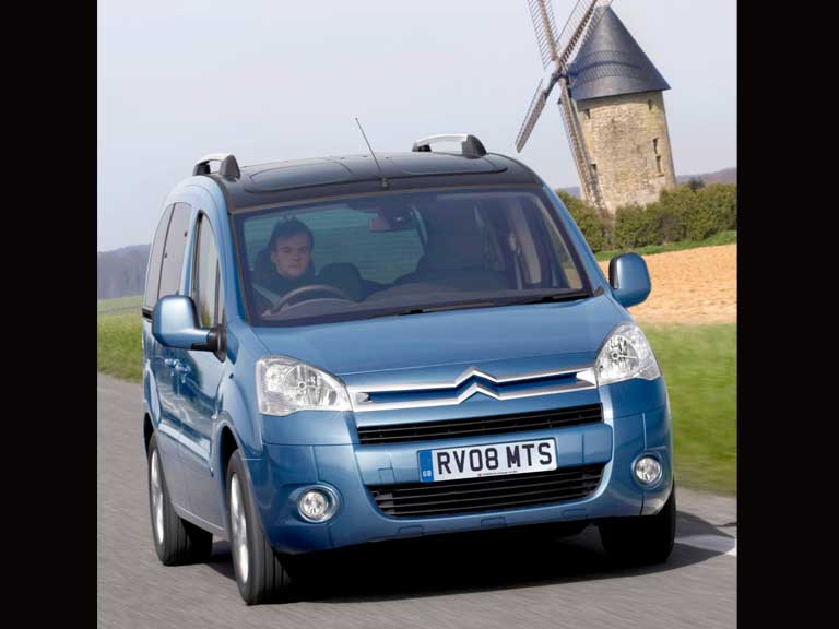 Front view of a Citroen Berlingo