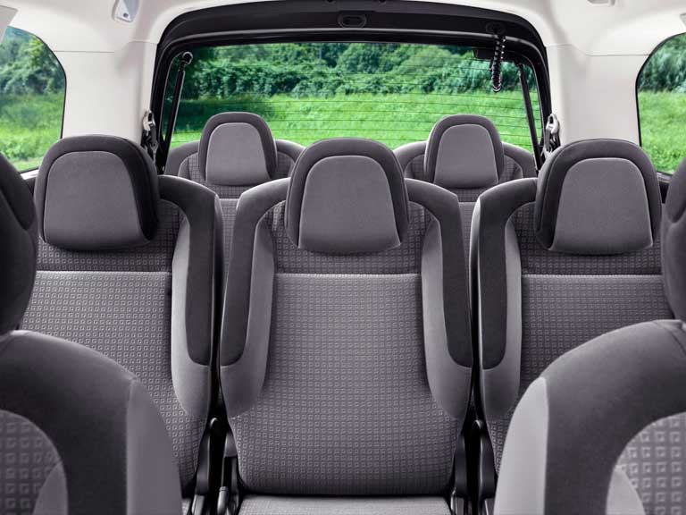 Seats in a Citroen Berlingo