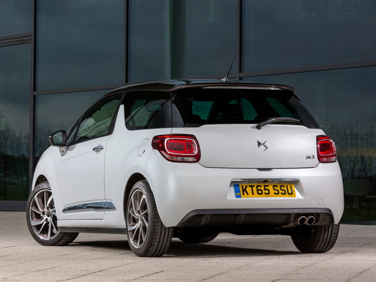 Rear view of a DS 3 Hatchback