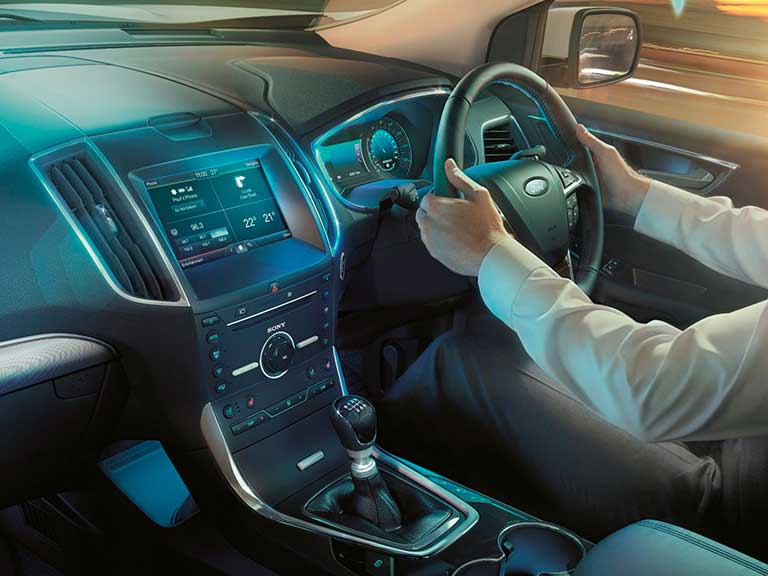 The Ford Edge interior