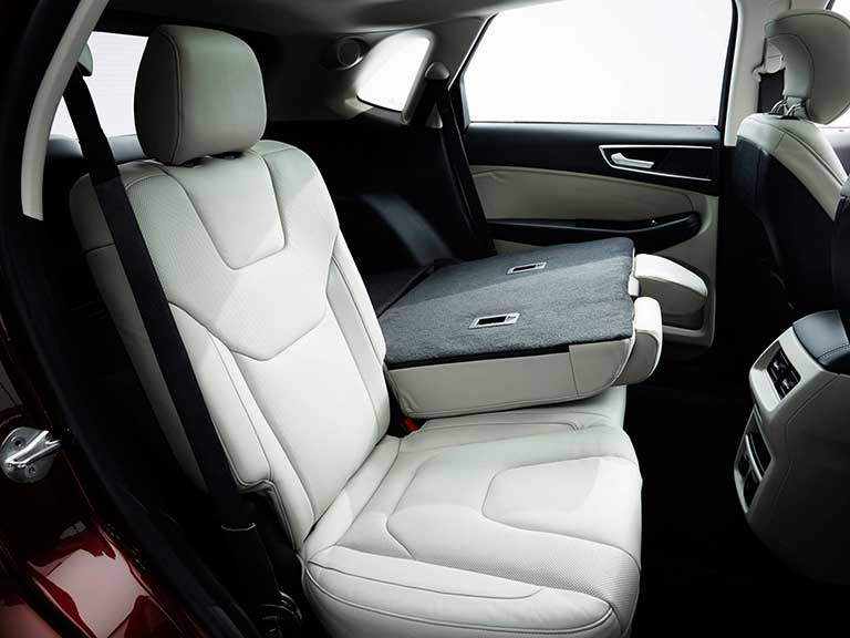 The Ford Edge rear seats
