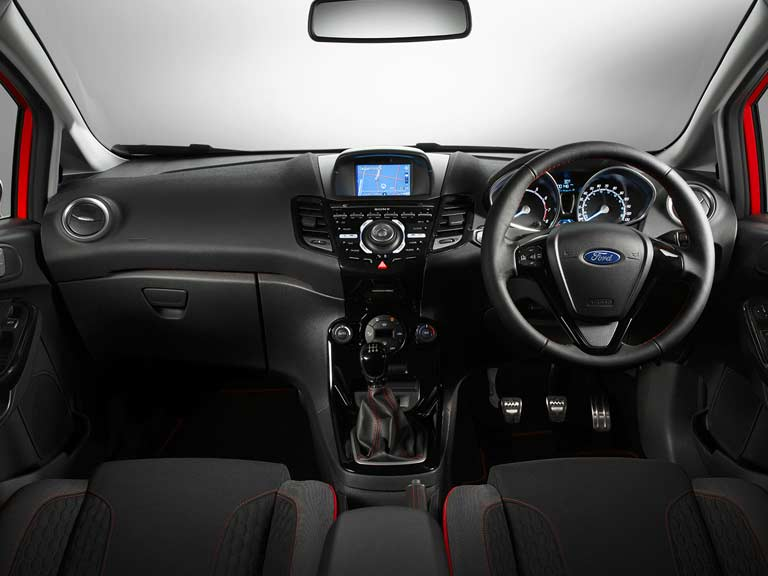 Ford Fiesta 1.0-litre EcoBoost wide view of dashboard