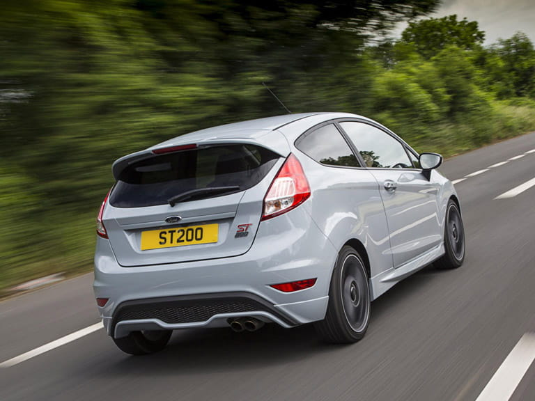 The Fiesta ST200 looks purposeful rather than pretty