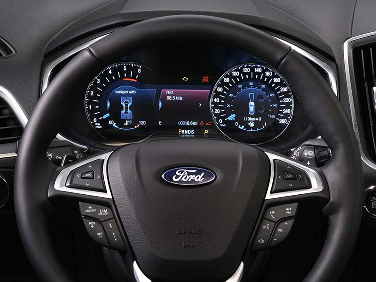 The Ford Galaxy wheel and dials