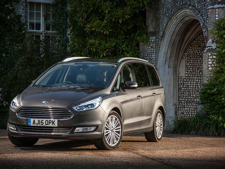 The Ford Galaxy from the front