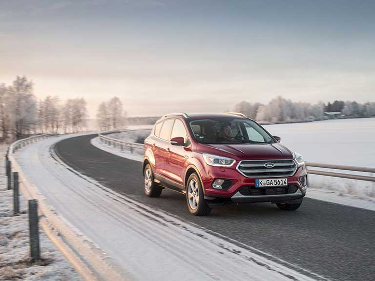 Ford Kuga on a snowy road