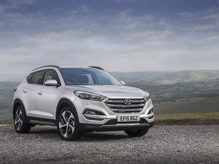 Hyundai Tucson from the front