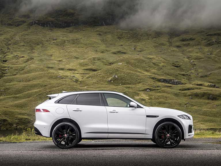 Jaguar F-Pace side view