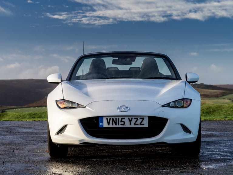 Front view of a Mazda MX-5