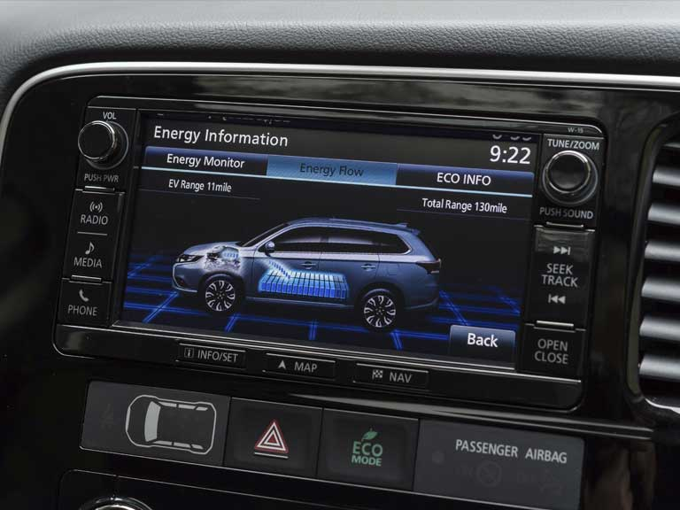Mitsubishi Outlander PHEV information screen