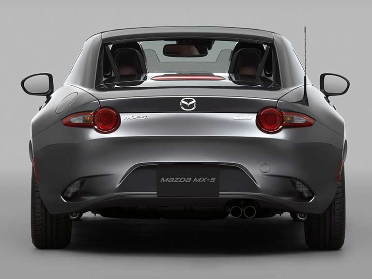 The Mazda MX5 RF rear view