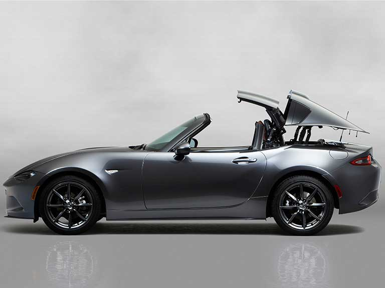 The Mazda MX5 RF roof down
