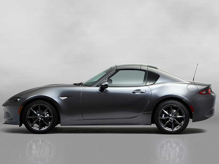 The Mazda MX5 RF roof up