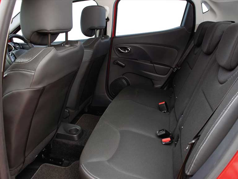 Rear seats of a Renault Clio