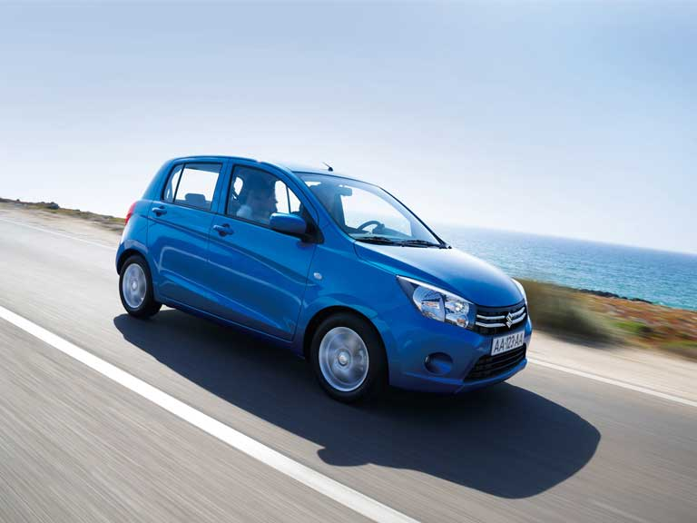 The Suzuki Celerio on the road