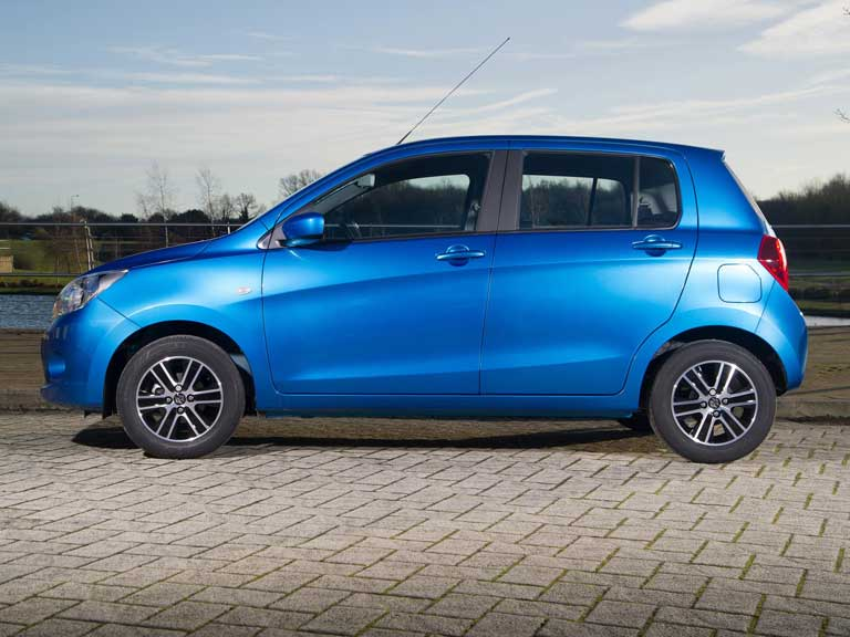 Side view of the Suzuki Celerio