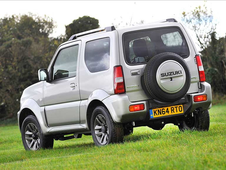 Suzuki Jimny from the rear