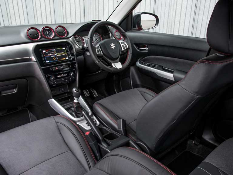 Suzuki Vitara S interior and front seats