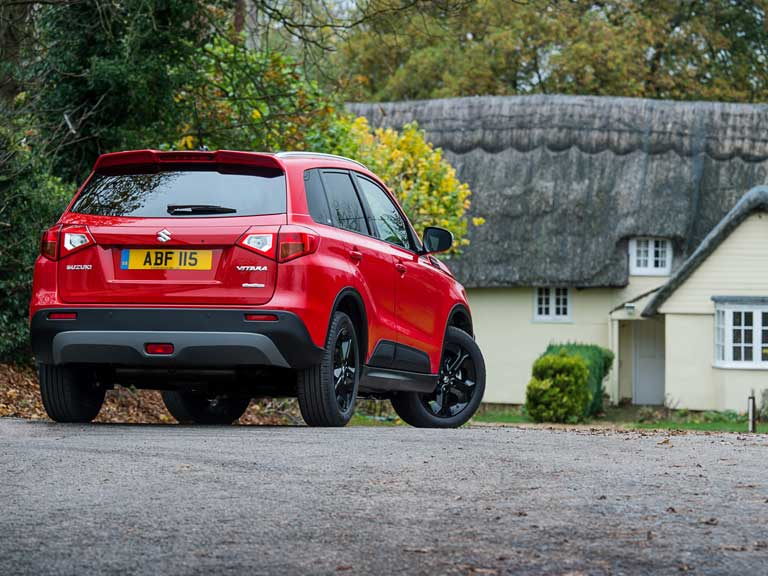 Rear view of the Suzuki Vitara S