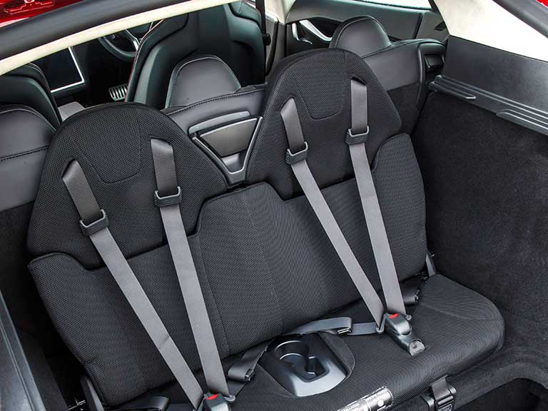 Tesla Model S seats in boot