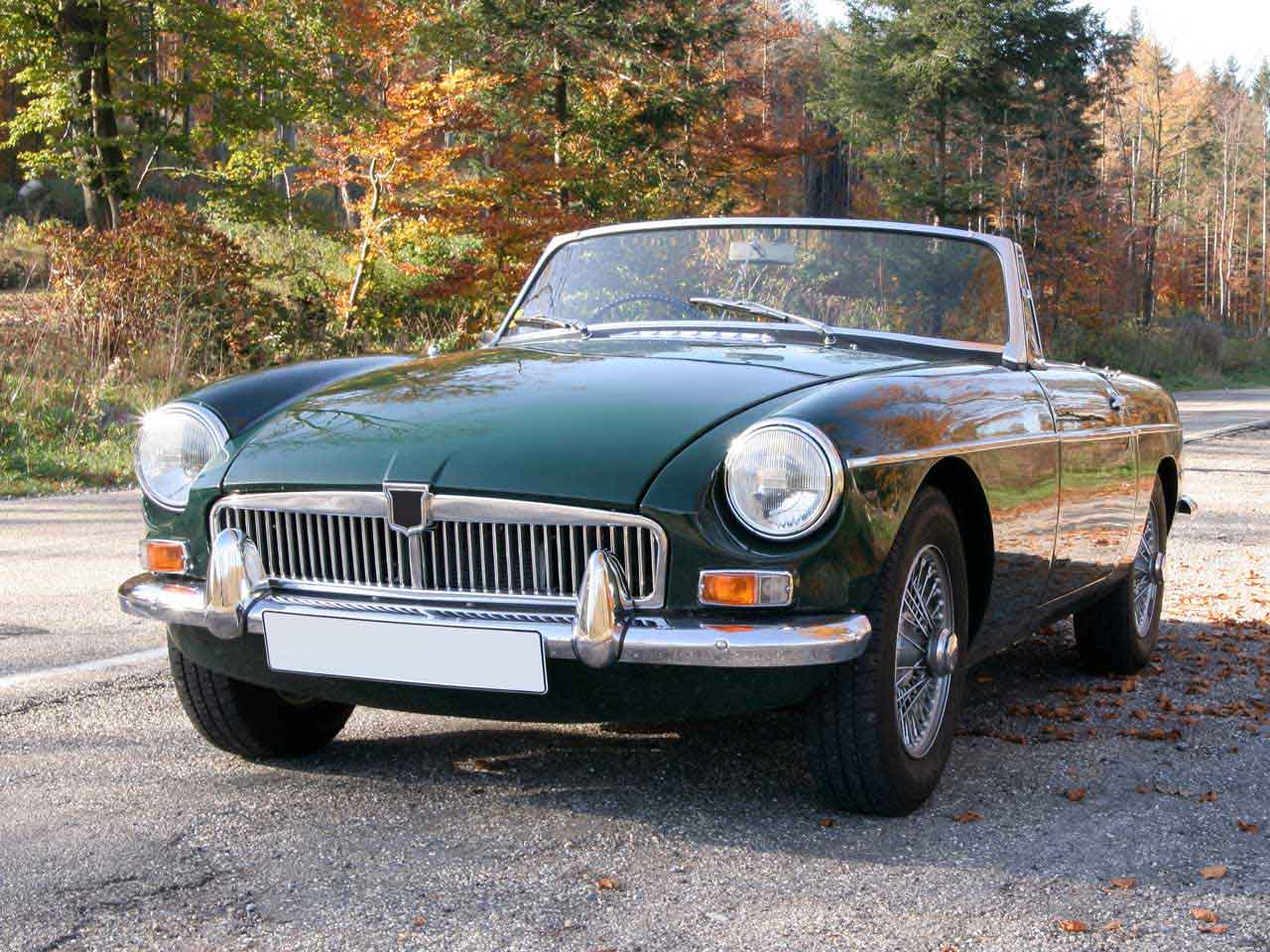 British classic car, the MGB