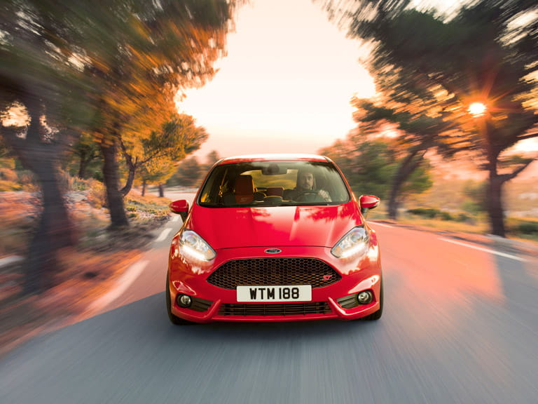The Ford Fiesta ST can reach an impressive 0-62mph time of just 6.9 seconds