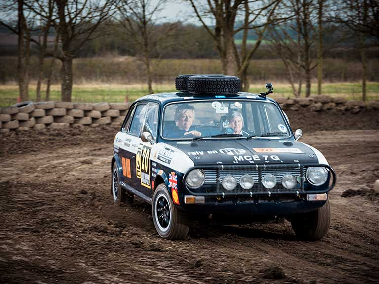 Bron Burrell and Tina Kerridge-Reynolds put Puff through its paces around the London Rally School | Portraits by Sean Malyon