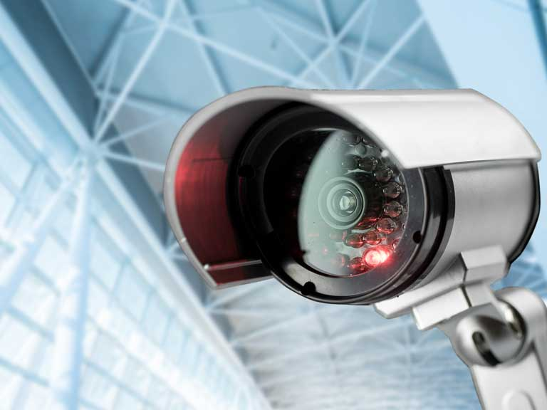 CCTV camera being used by a council to issue PCNs