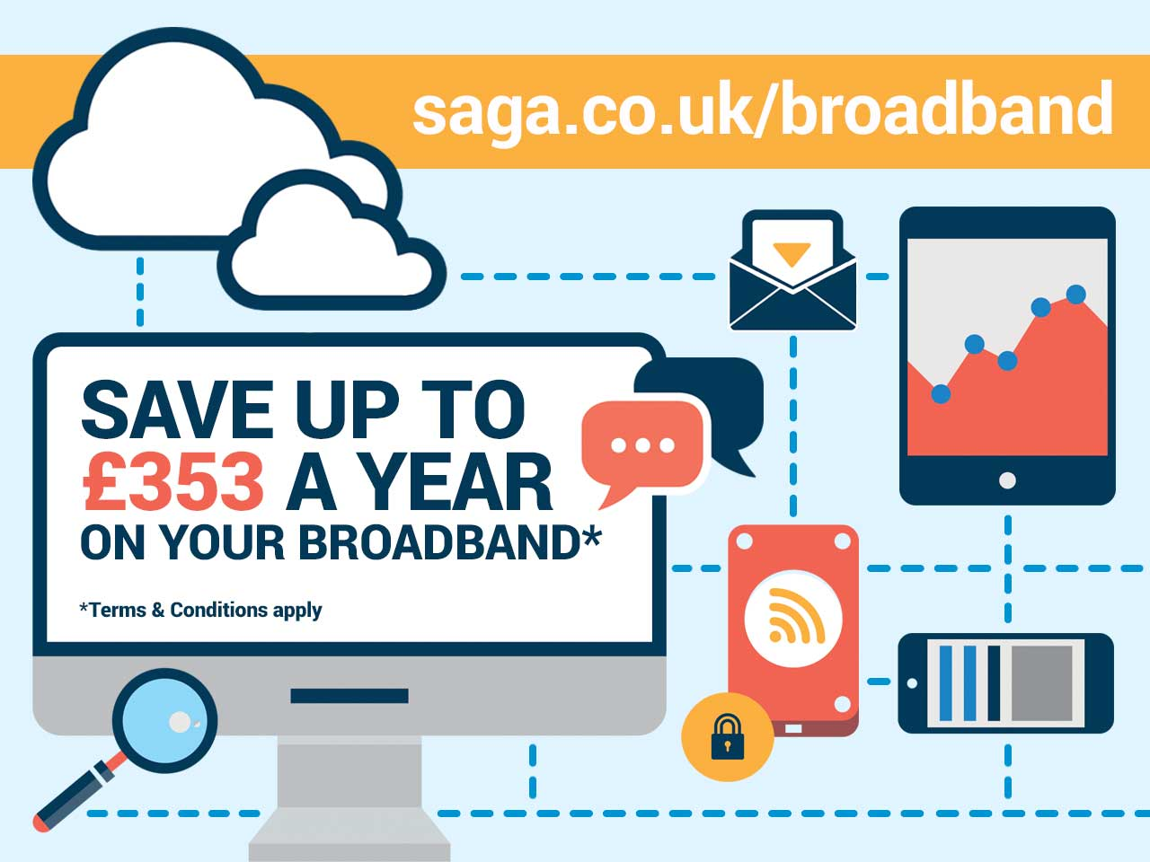 Save up to £353 a year on your broadband