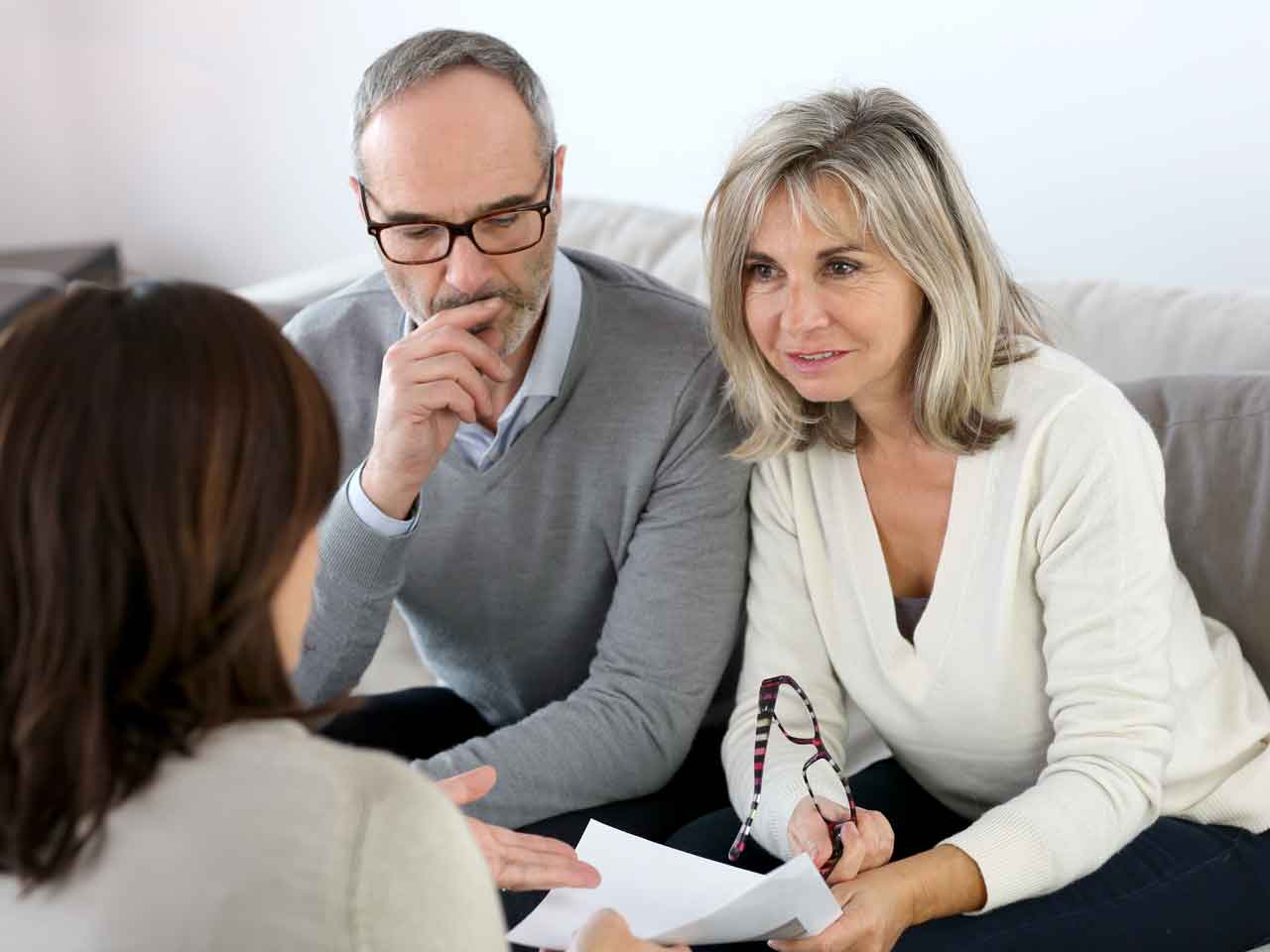 Grandparents speaking to a family mediator