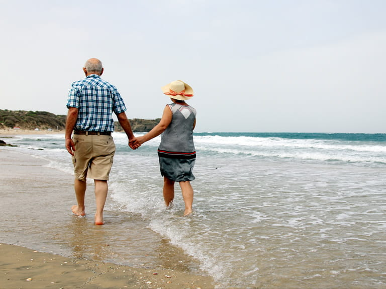 Older couple on the beach