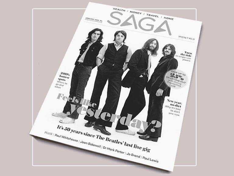 The Beatles on the front cover of Saga Magazine