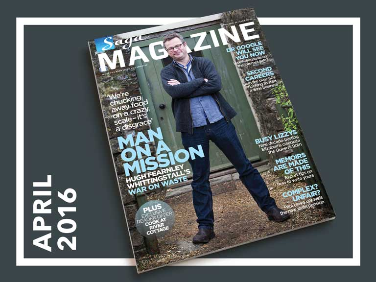 April issue of Saga Magazine with Hugh Fearnley Whittingstall