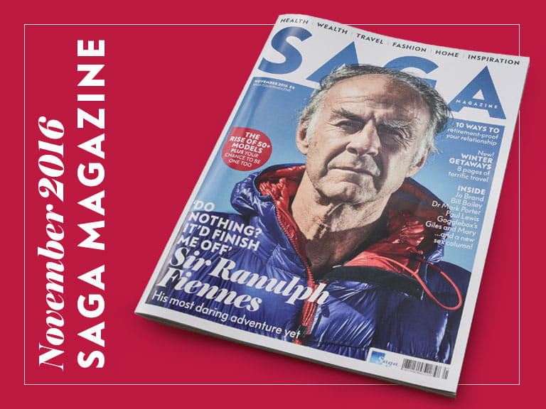 November issue of Saga Magazine