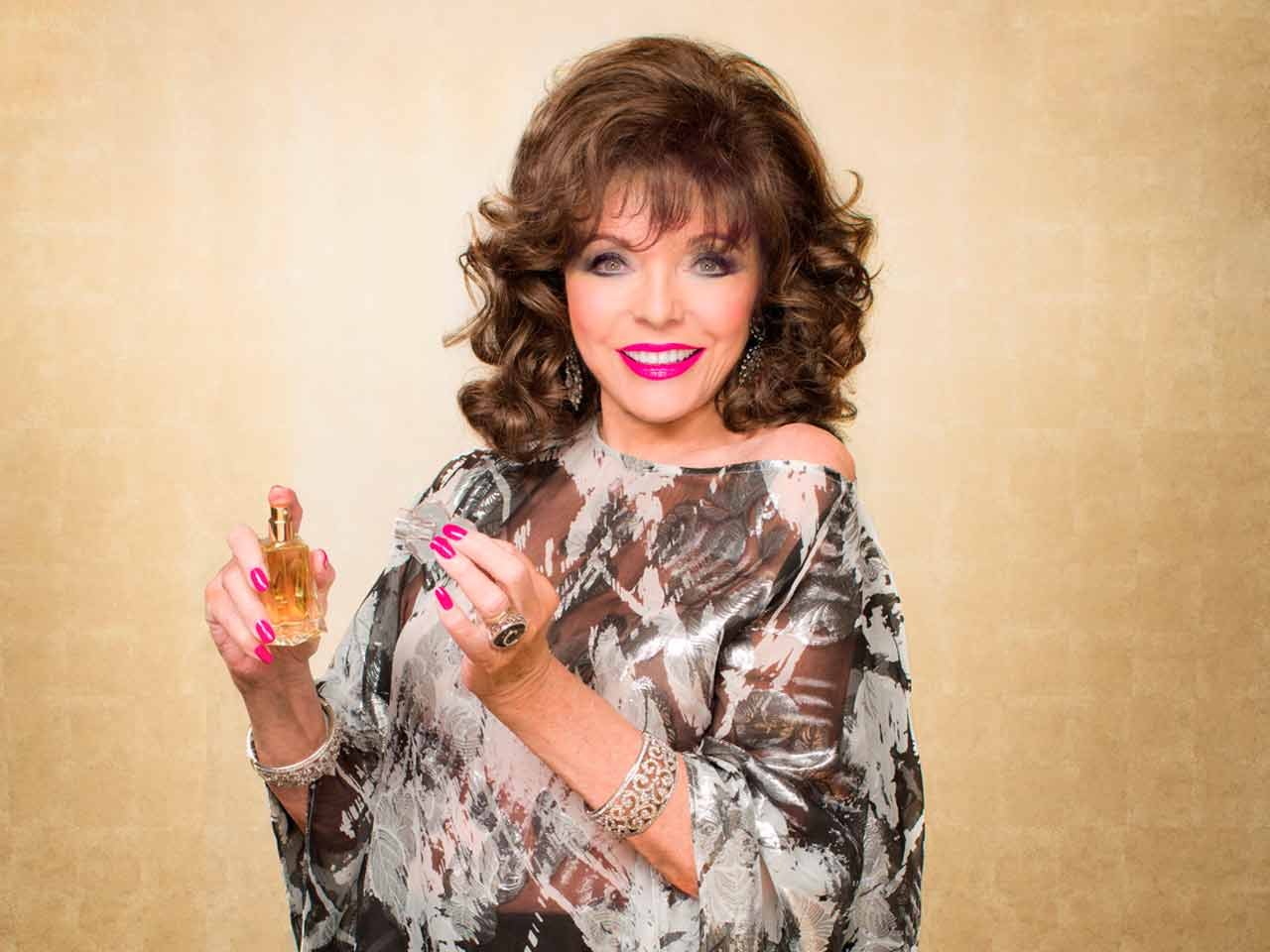 Joan Collins talks about her range of make-up, Timeless Beauty
