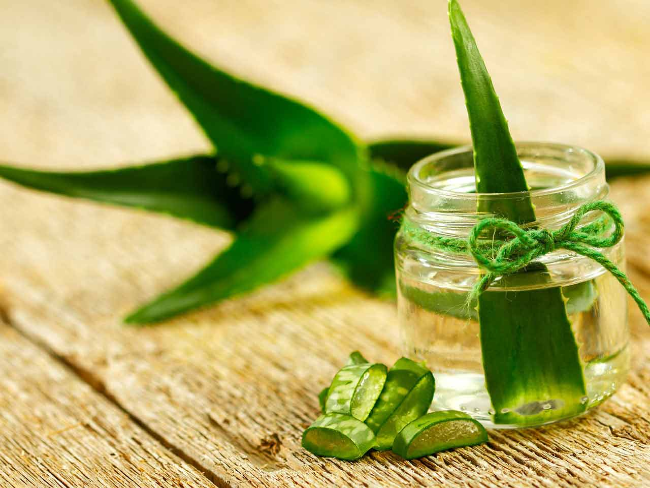 Aloe vera leaves, a common home remedy for wrinkles