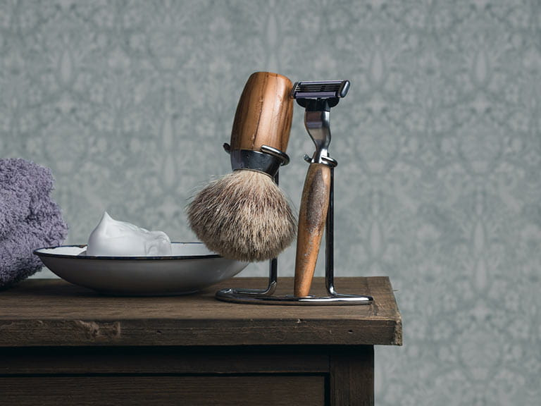 Male grooming set for older mens skin care