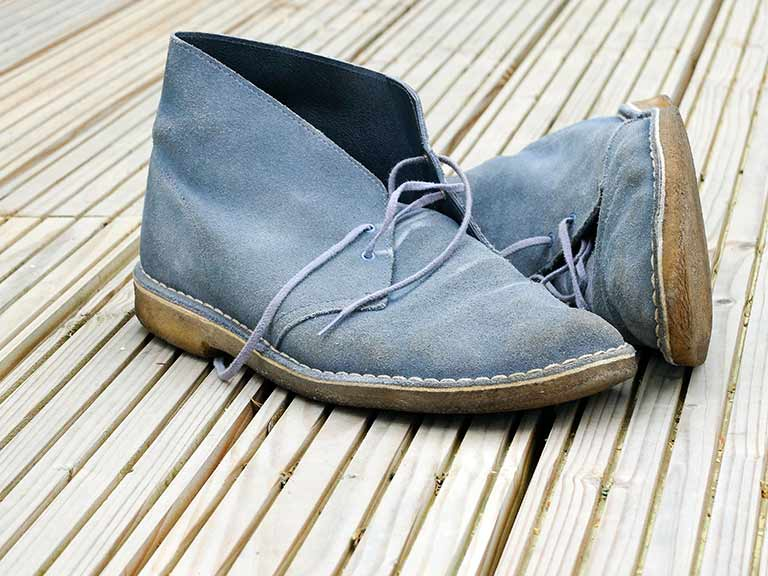 A well-loved pair of Clark's desert boots