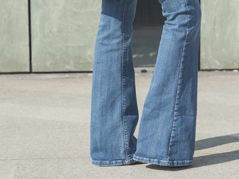 Bell bottomed jeans are thankfully out of fashion