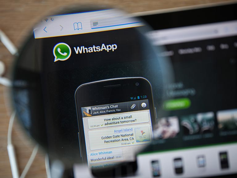 WhatsApp phone application