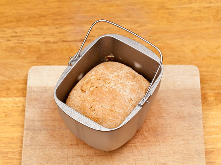 Loaf of bread in a bread maker